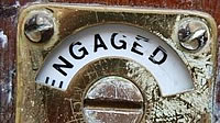 Photo of an 'Engaged' sign